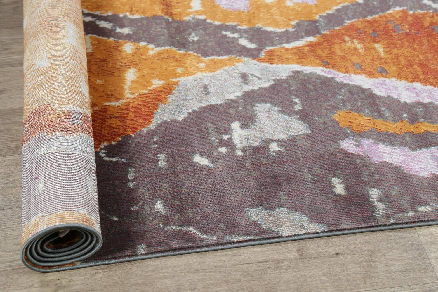 Vintage Style Abstract Distressed Heat-Set Area Rugs image 5