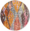 Vintage Style Abstract Distressed Heat-Set Area Rugs image 14