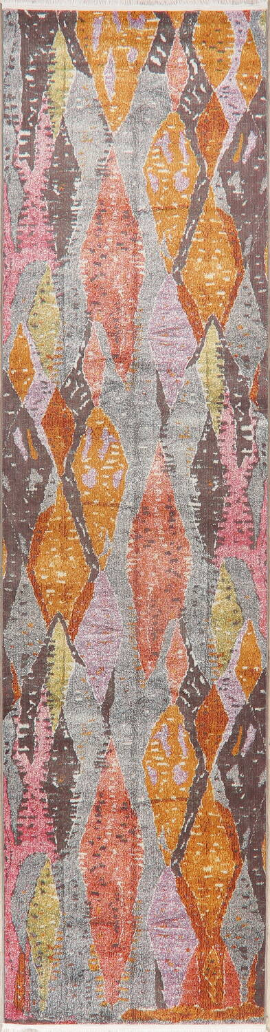 Vintage Style Abstract Distressed Heat-Set Area Rugs image 17
