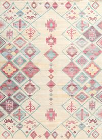 Vintage Style Distressed Heat-Set Area Rugs