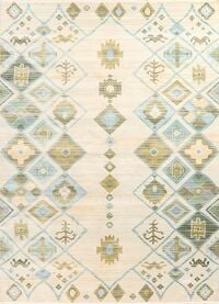 Geometric Distressed Turkish Area Rug
