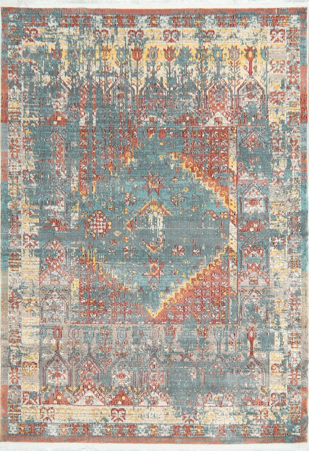 Vintage Style Distressed Heat-Set Area Rugs image 12
