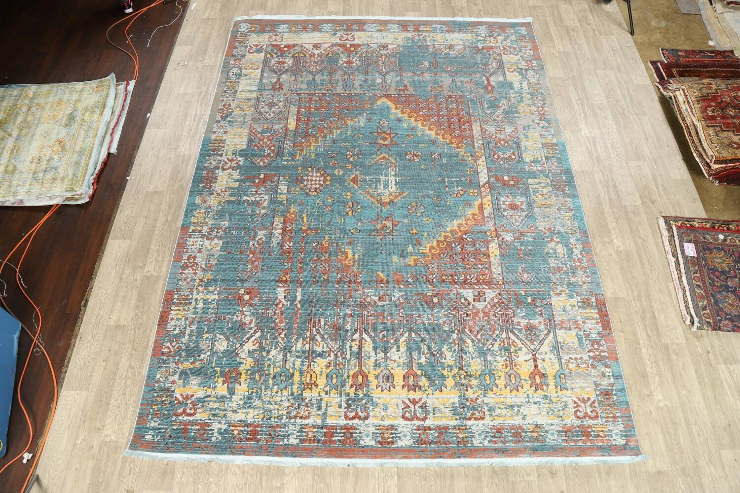 Vintage Style Distressed Heat-Set Area Rugs image 29