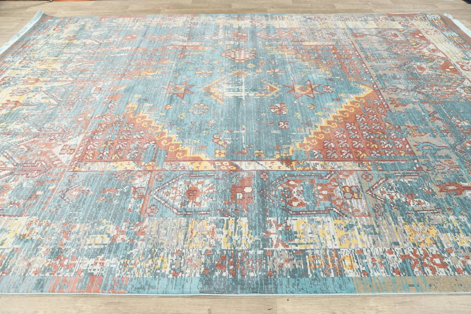 Vintage Style Distressed Heat-Set Area Rugs image 33