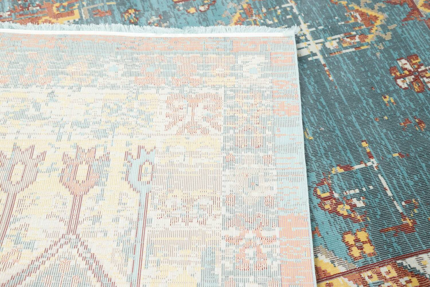 Vintage Style Distressed Heat-Set Area Rugs image 38