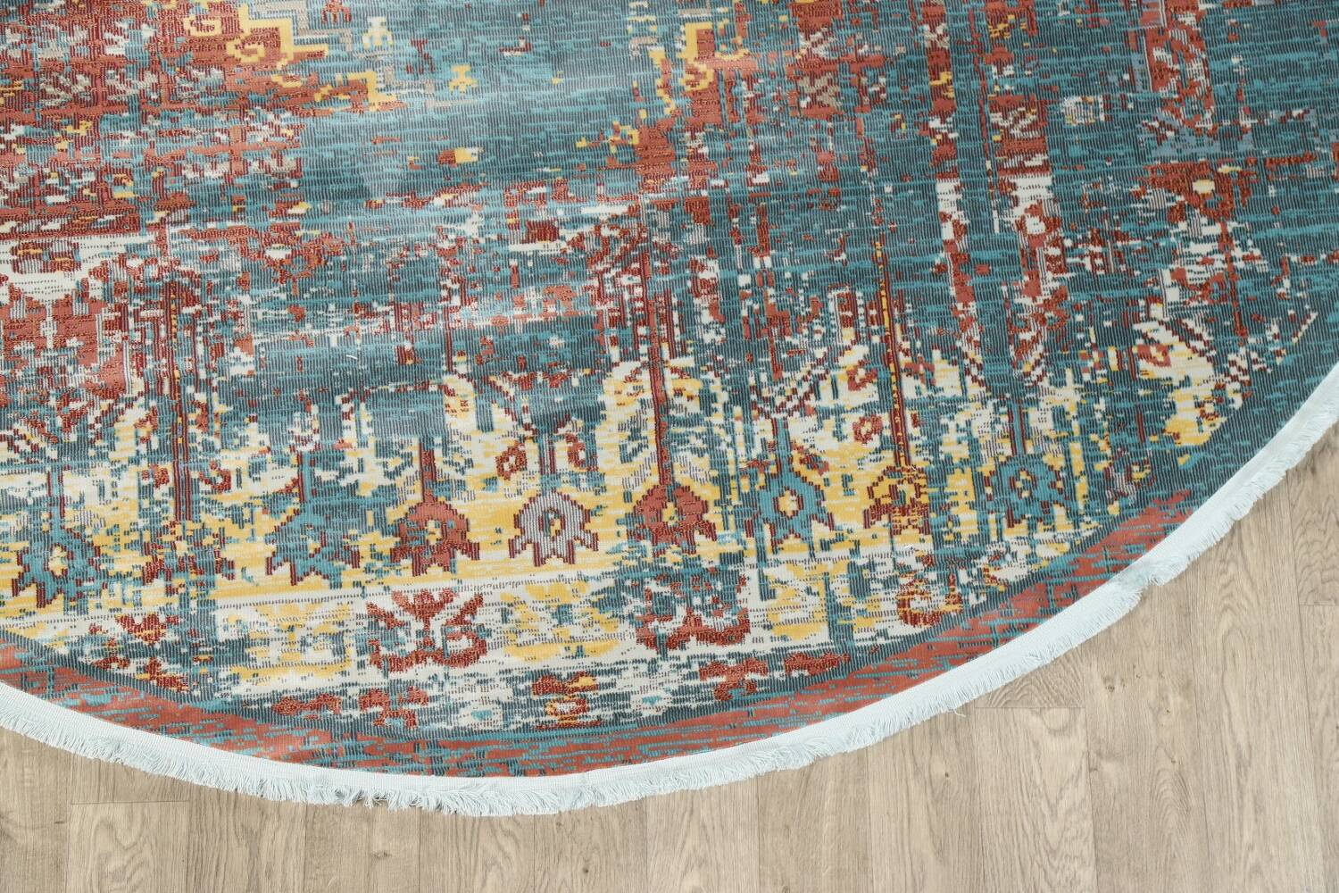 Vintage Style Distressed Heat-Set Area Rugs image 44