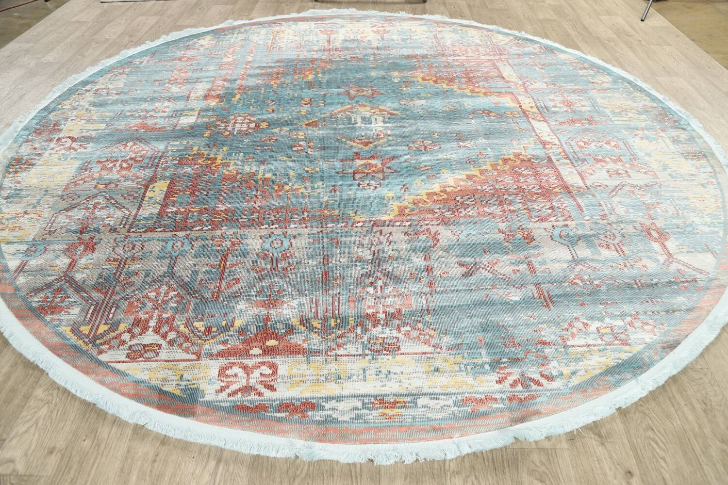 Vintage Style Distressed Heat-Set Area Rugs image 45