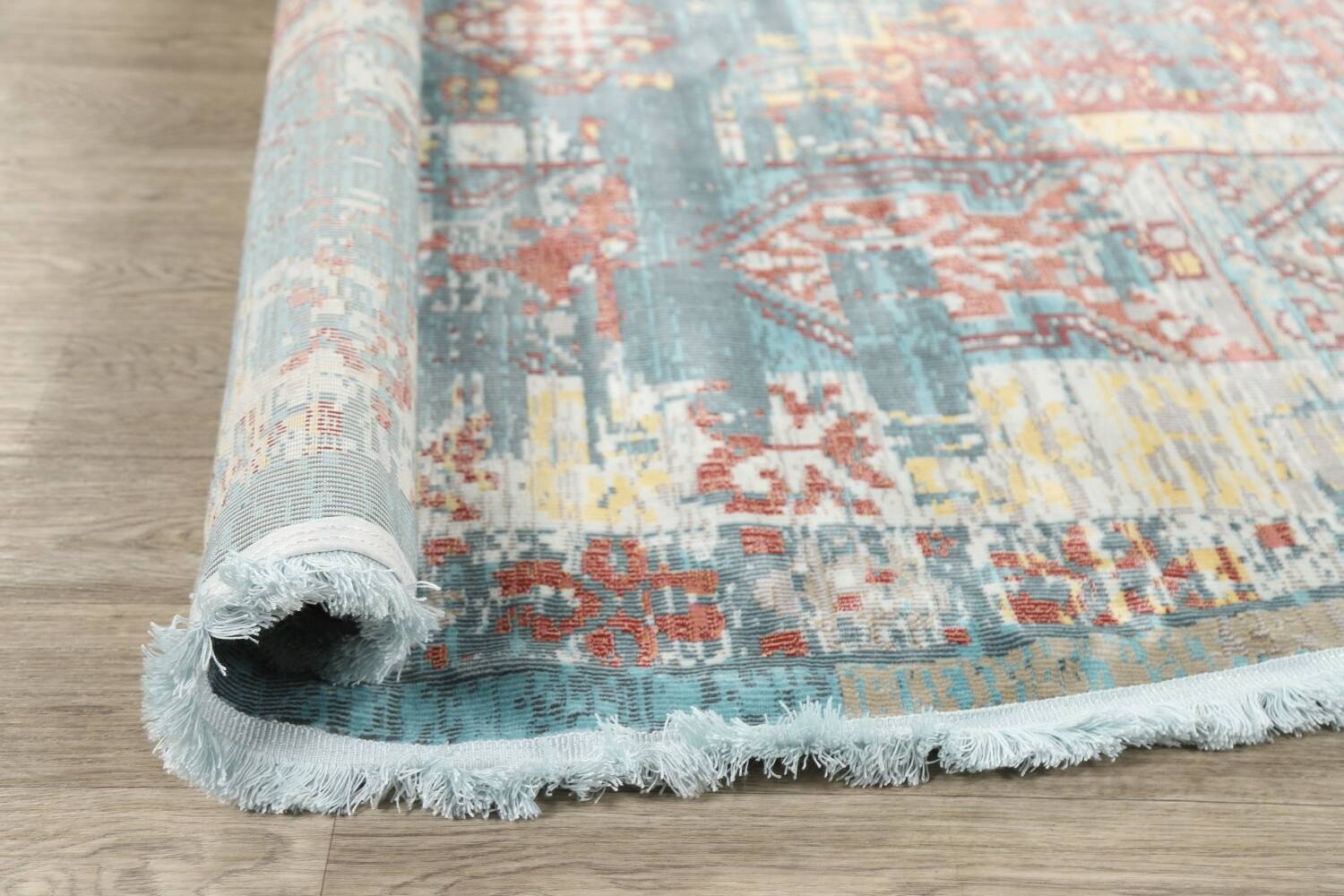 Vintage Style Distressed Heat-Set Area Rugs image 46