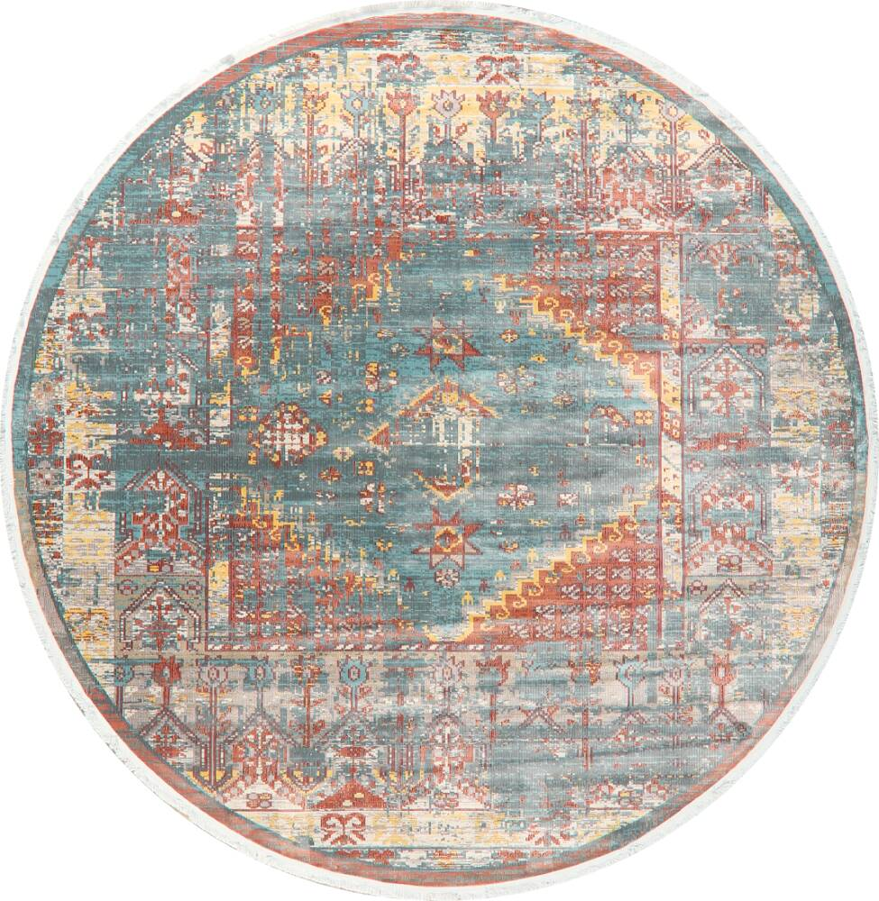 Vintage Style Distressed Heat-Set Area Rugs image 42