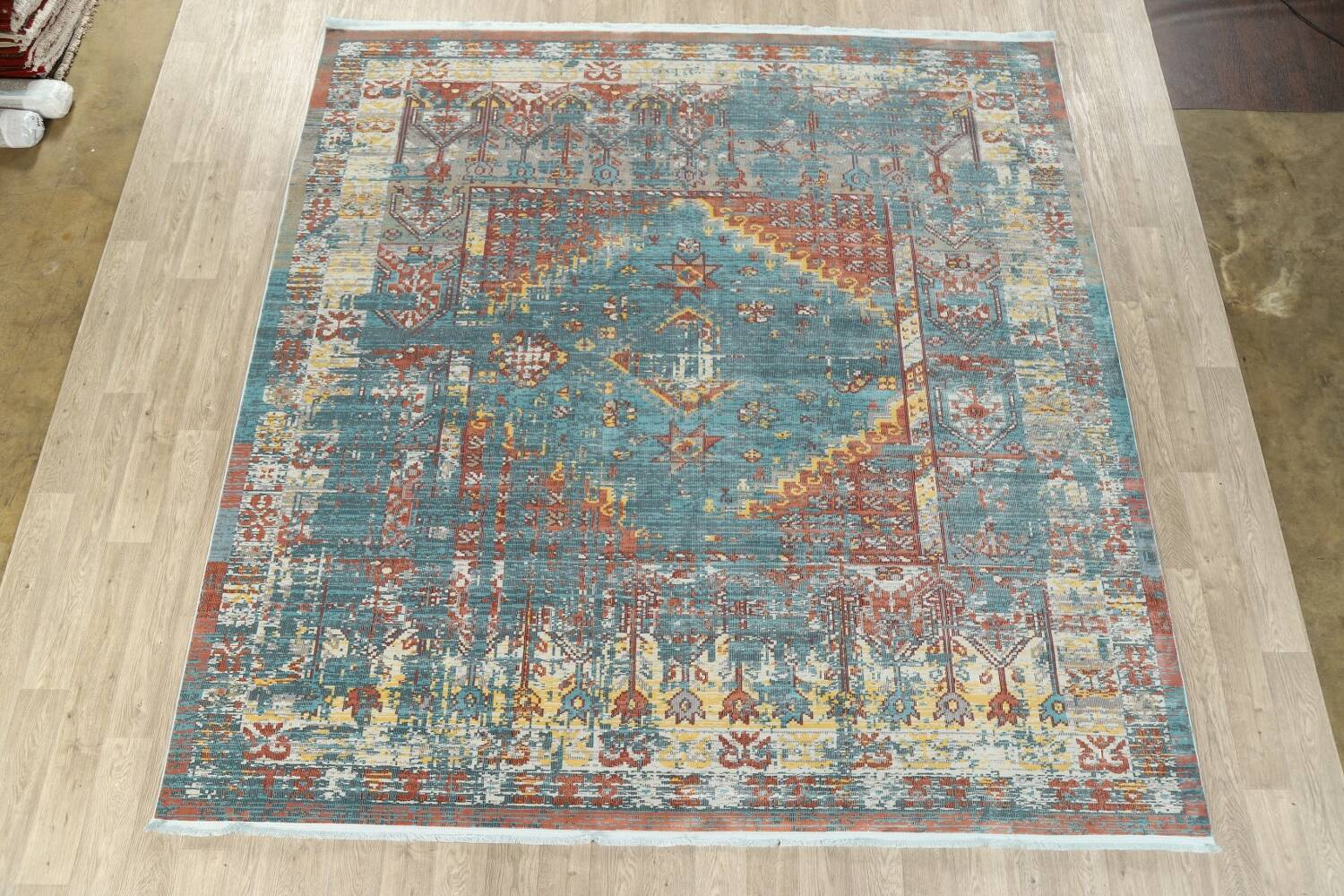 Vintage Style Distressed Heat-Set Area Rugs image 51