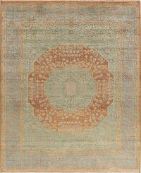 Green & Light Blue Mumluk Oriental Area Rug 8x10