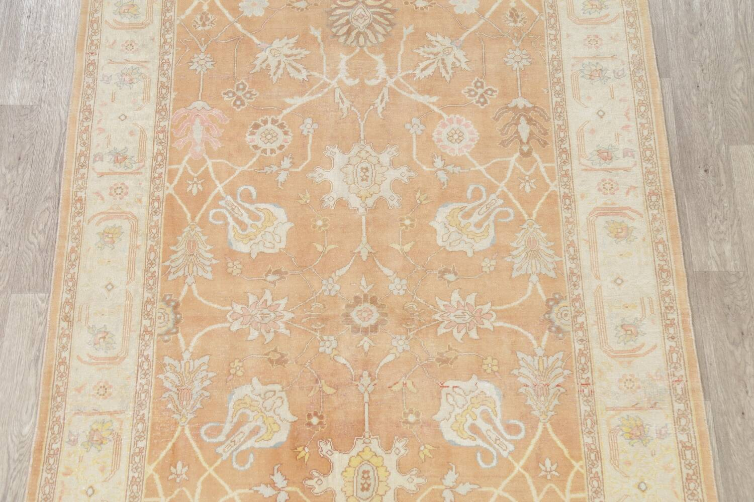 Vegetable Dye Rust Oushak Egyptian Area Rug 6x9 image 3