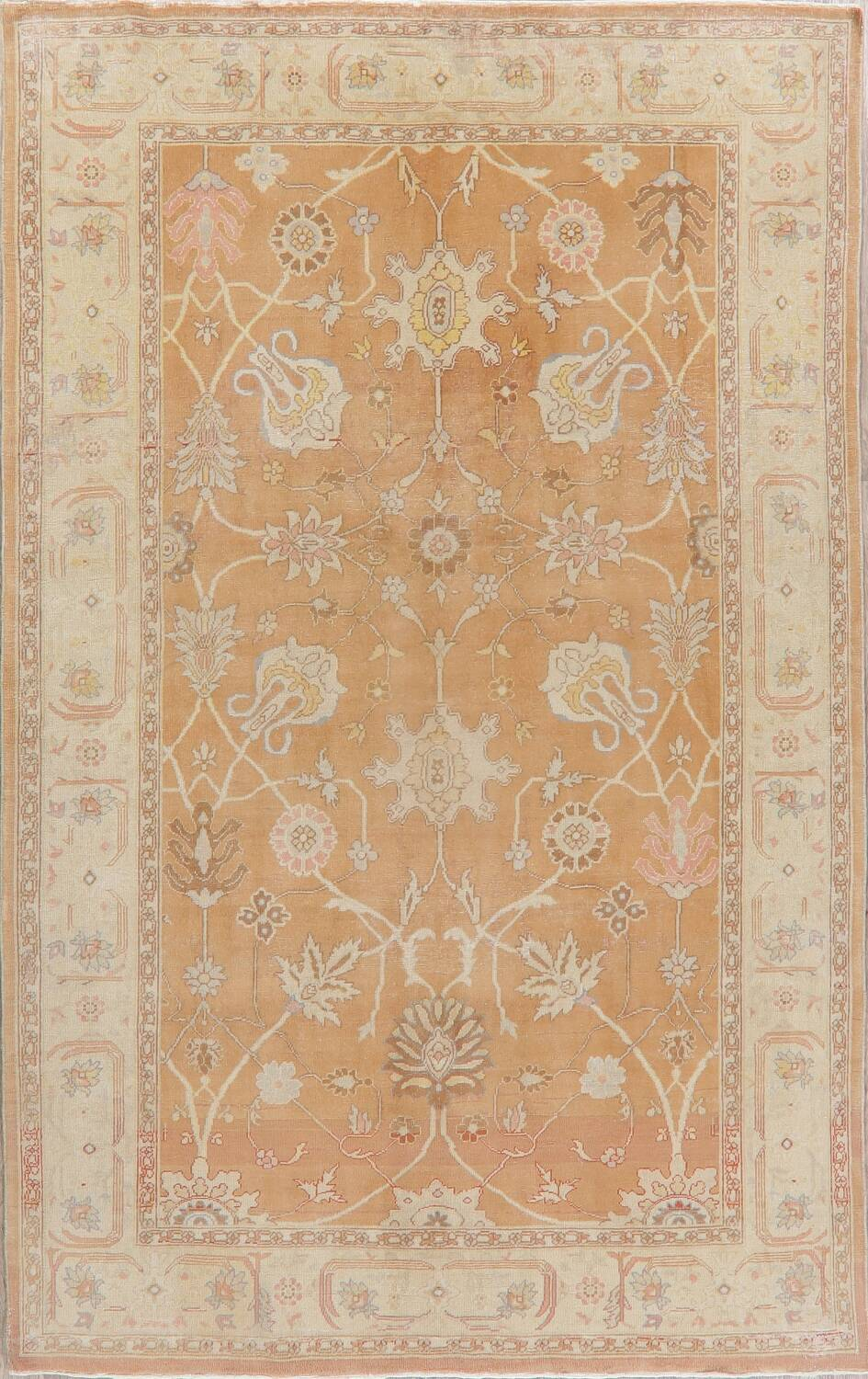 Vegetable Dye Rust Oushak Egyptian Area Rug 6x9 image 1