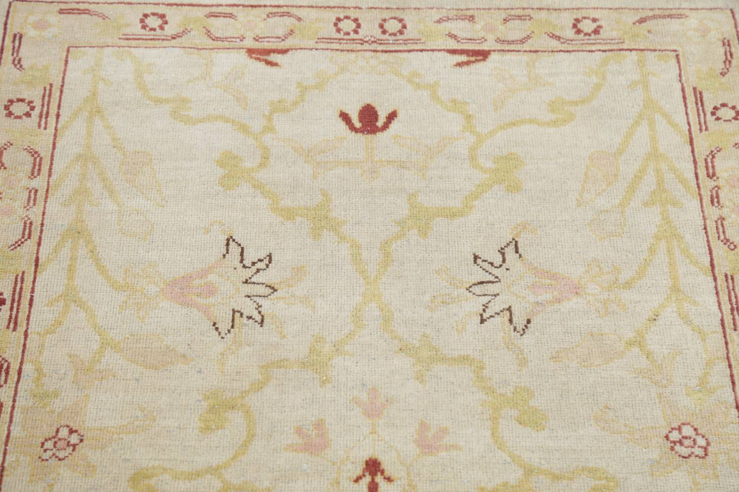 Vegetable Dye Beige Oushak Egyptian Runner Rug 3x11 image 13