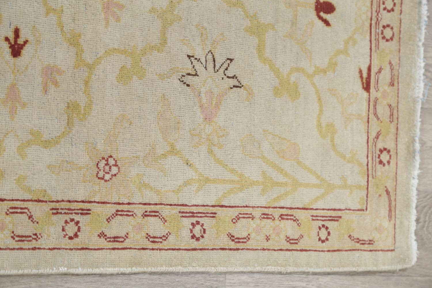 Vegetable Dye Beige Oushak Egyptian Runner Rug 3x11 image 14