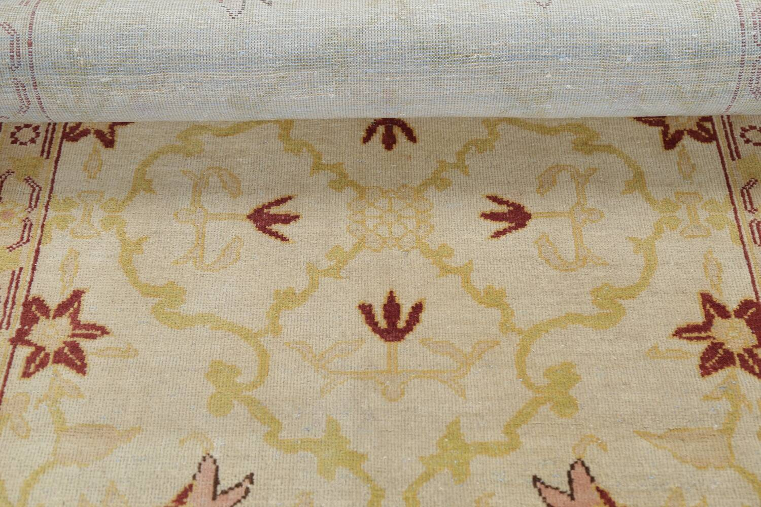 Vegetable Dye Beige Oushak Egyptian Runner Rug 3x11 image 18