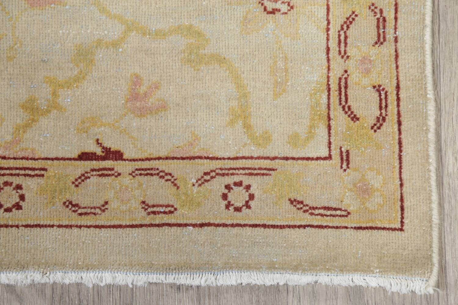 Vegetable Dye Beige Oushak Egyptian Runner Rug 3x11 image 5