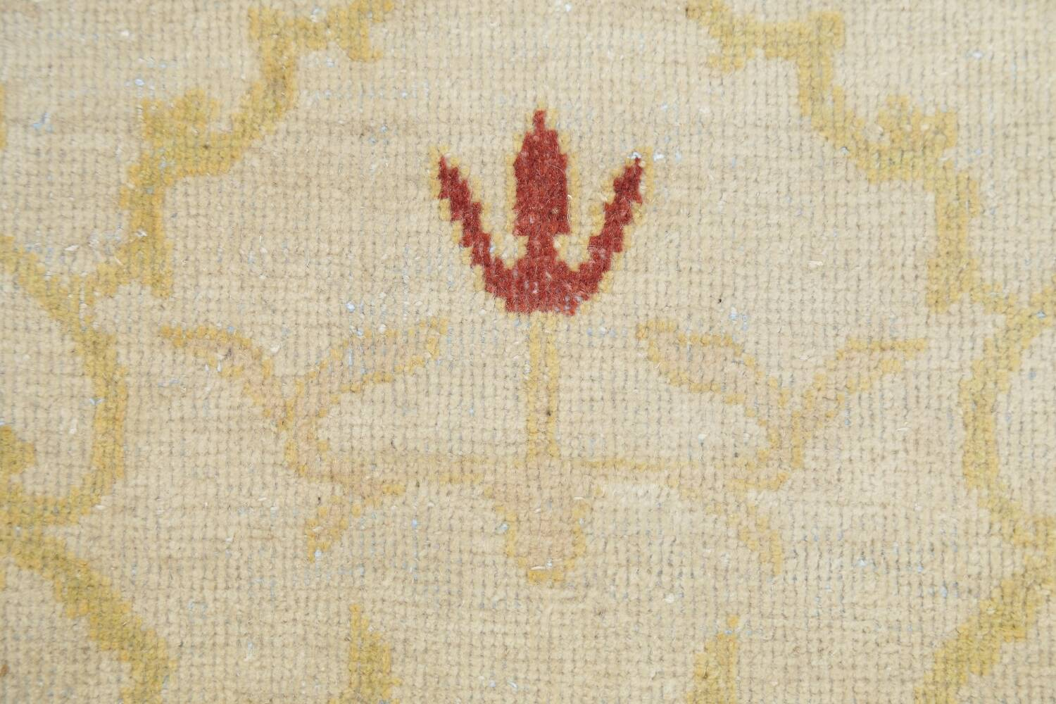 Vegetable Dye Beige Oushak Egyptian Runner Rug 3x11 image 9