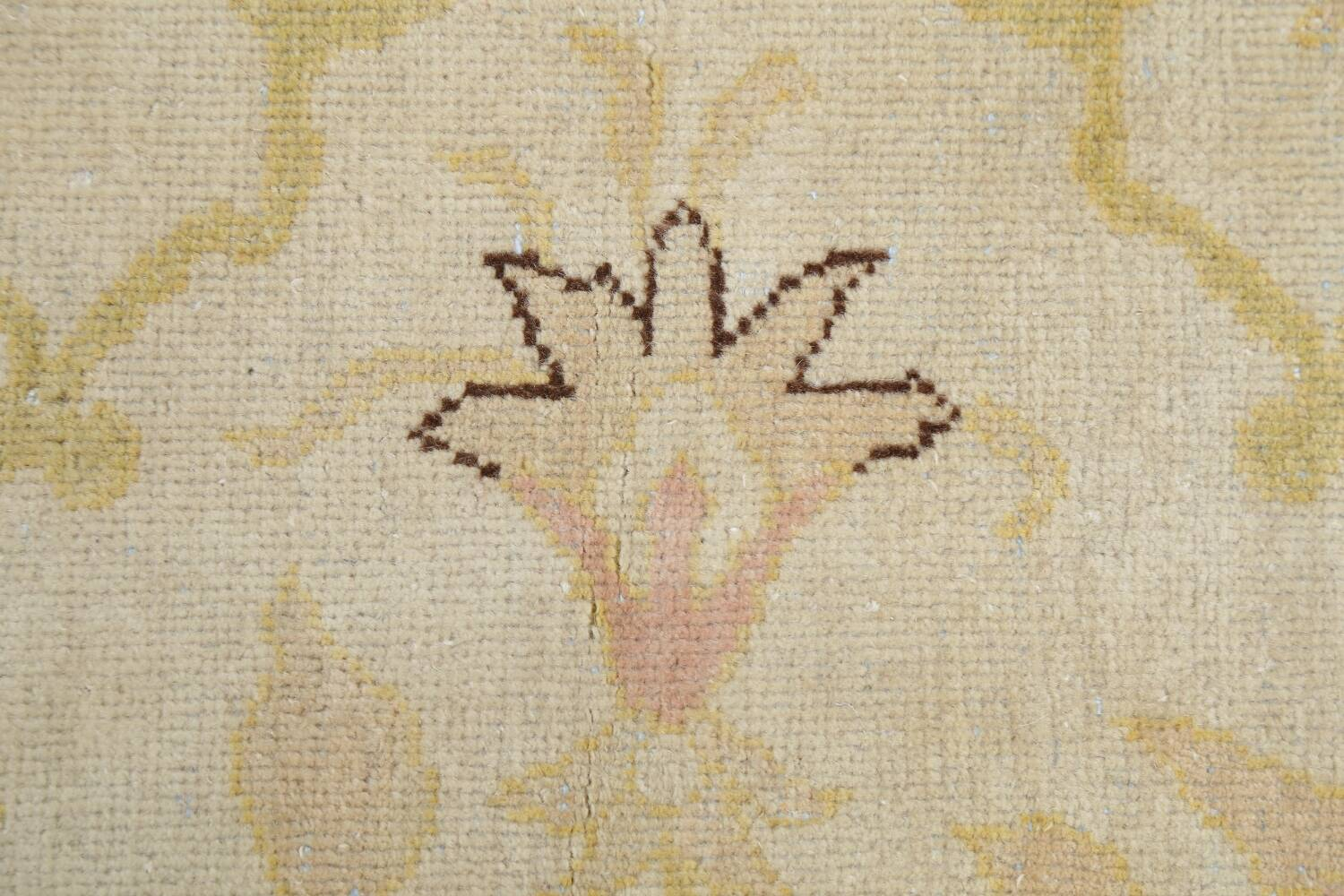 Vegetable Dye Beige Oushak Egyptian Runner Rug 3x11 image 10