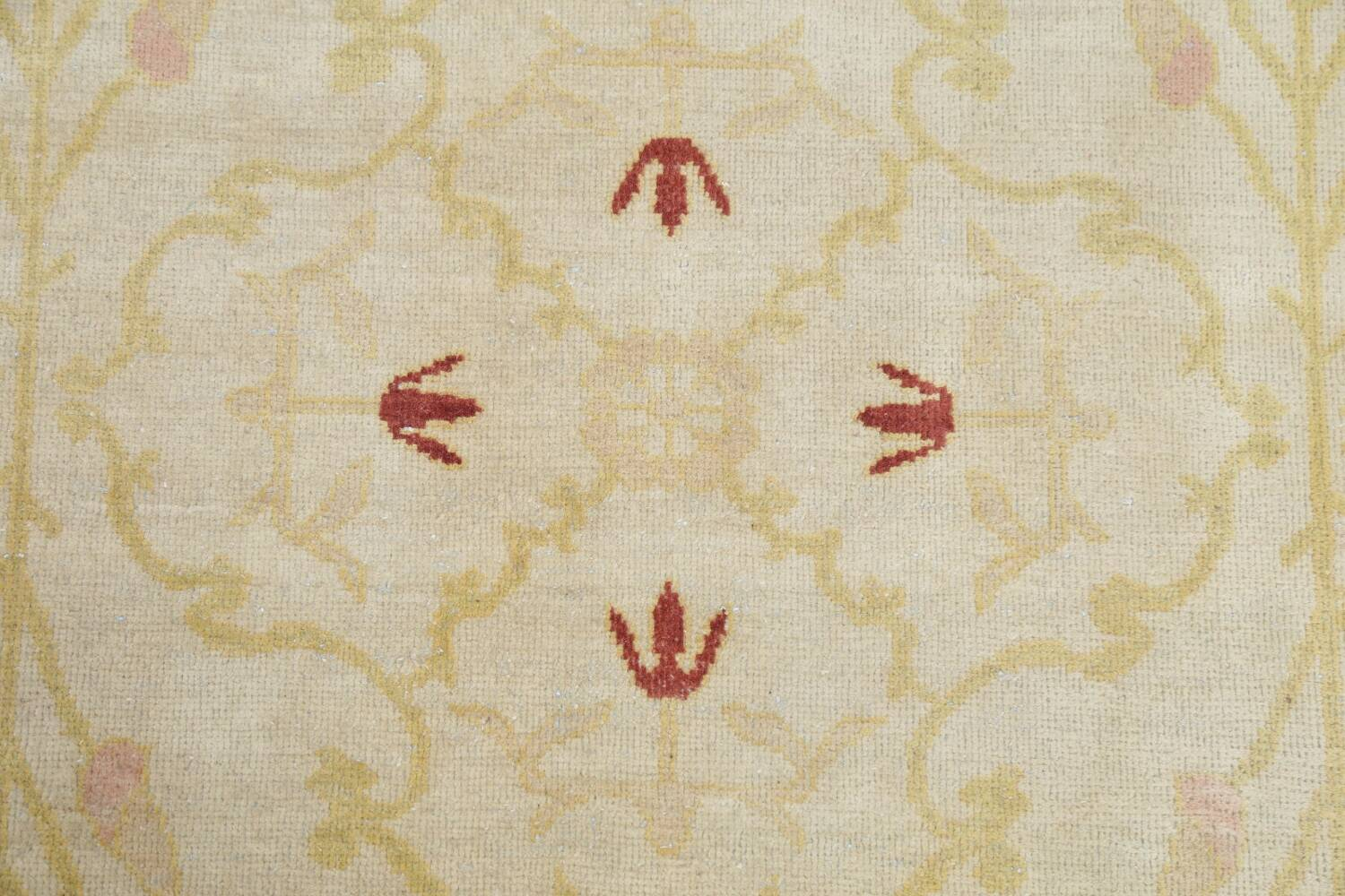 Vegetable Dye Beige Oushak Egyptian Runner Rug 3x11 image 12