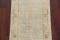 Distressed Muted Green Oushak Oriental Runner Rug 2x13 image 4