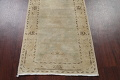 Distressed Muted Green Oushak Oriental Runner Rug 2x13 image 8