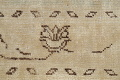 Distressed Muted Green Oushak Oriental Runner Rug 2x13 image 9