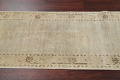 Distressed Muted Green Oushak Oriental Runner Rug 2x13 image 13
