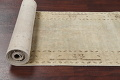 Distressed Muted Green Oushak Oriental Runner Rug 2x13 image 16
