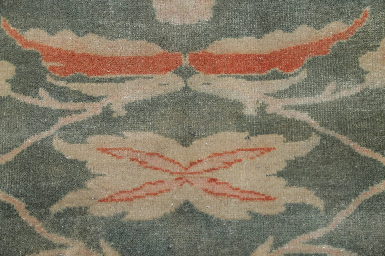 Floral Green Oushak Egyptian Area Rug 4x6 image 10