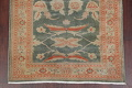 Floral Green Oushak Egyptian Area Rug 4x6 image 8