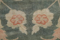 Floral Green Oushak Egyptian Area Rug 4x6 image 9