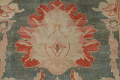 Floral Green Oushak Egyptian Area Rug 4x6 image 12
