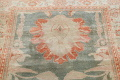 Floral Green Oushak Egyptian Area Rug 4x6 image 13