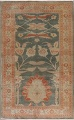 Floral Green Oushak Egyptian Area Rug 4x6 image 1