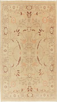 Light Brown Floral Oushak Egyptian Area Rug 6x10