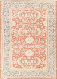 Coral Floral Oushak Vegetable Dye Oriental Area Rug 9x12