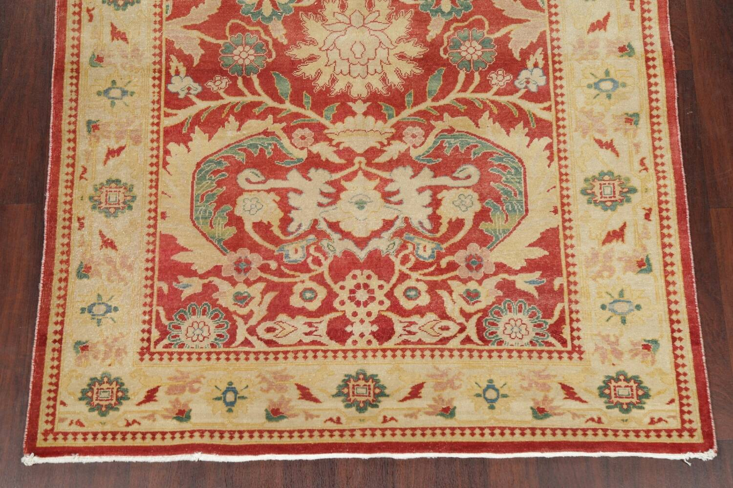 Floral Red Oushak Egyptian Area Rug 6x9 image 8