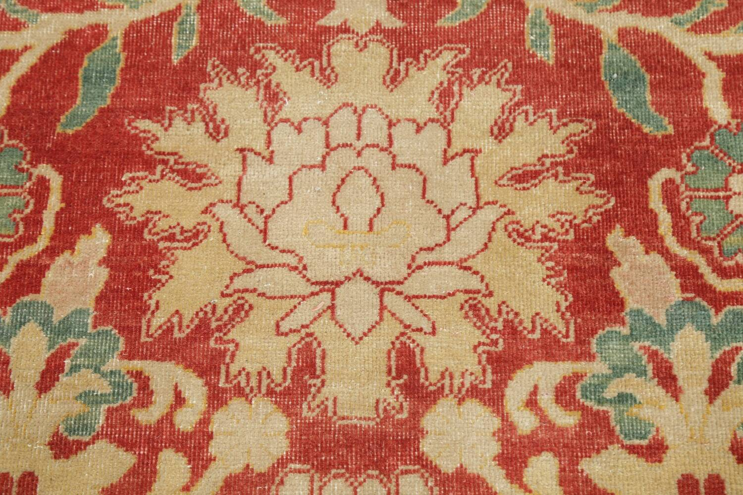 Floral Red Oushak Egyptian Area Rug 6x9 image 9
