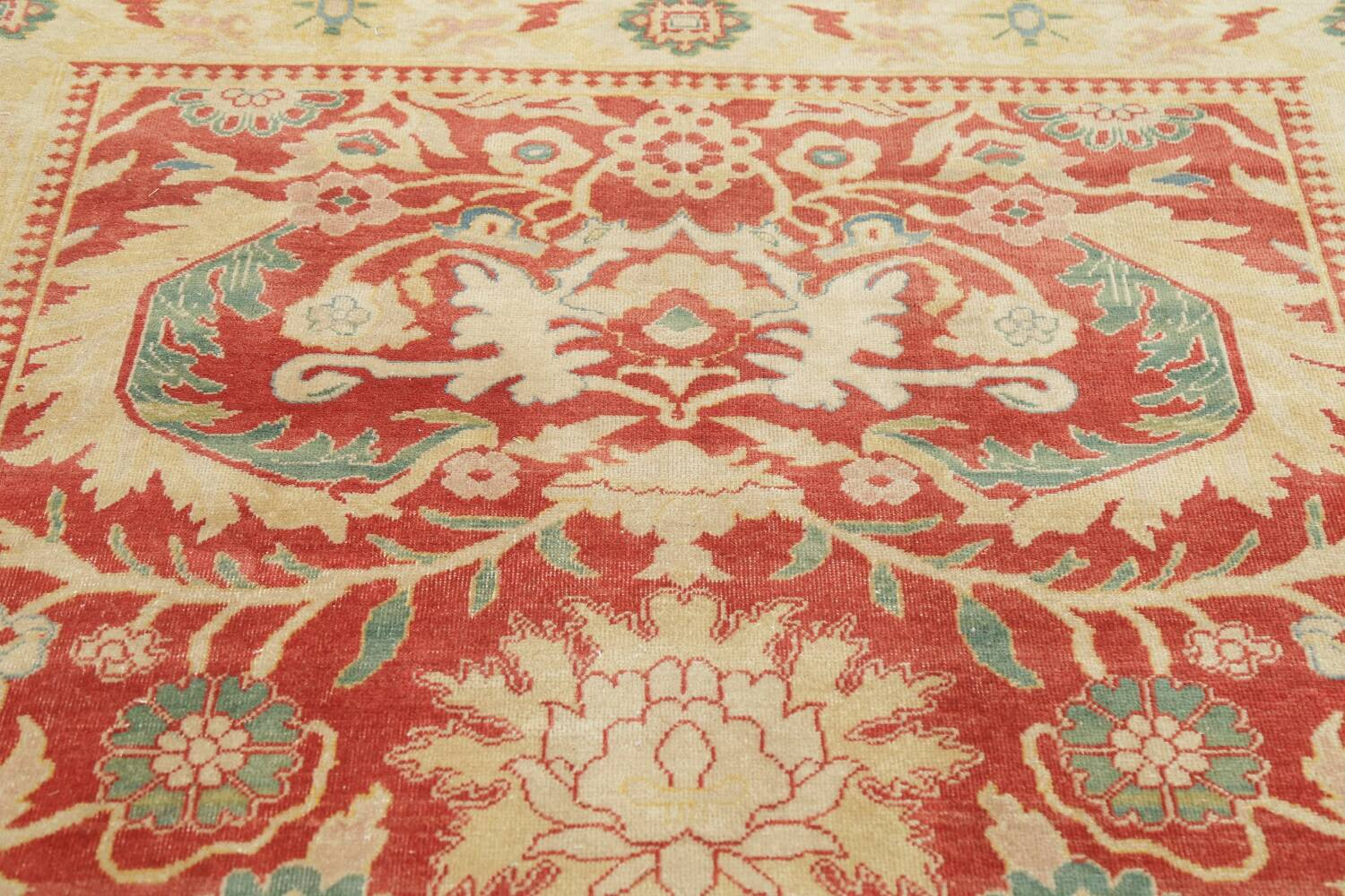 Floral Red Oushak Egyptian Area Rug 6x9 image 12