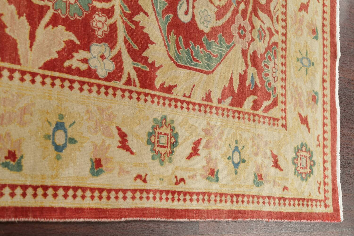 Floral Red Oushak Egyptian Area Rug 6x9 image 13
