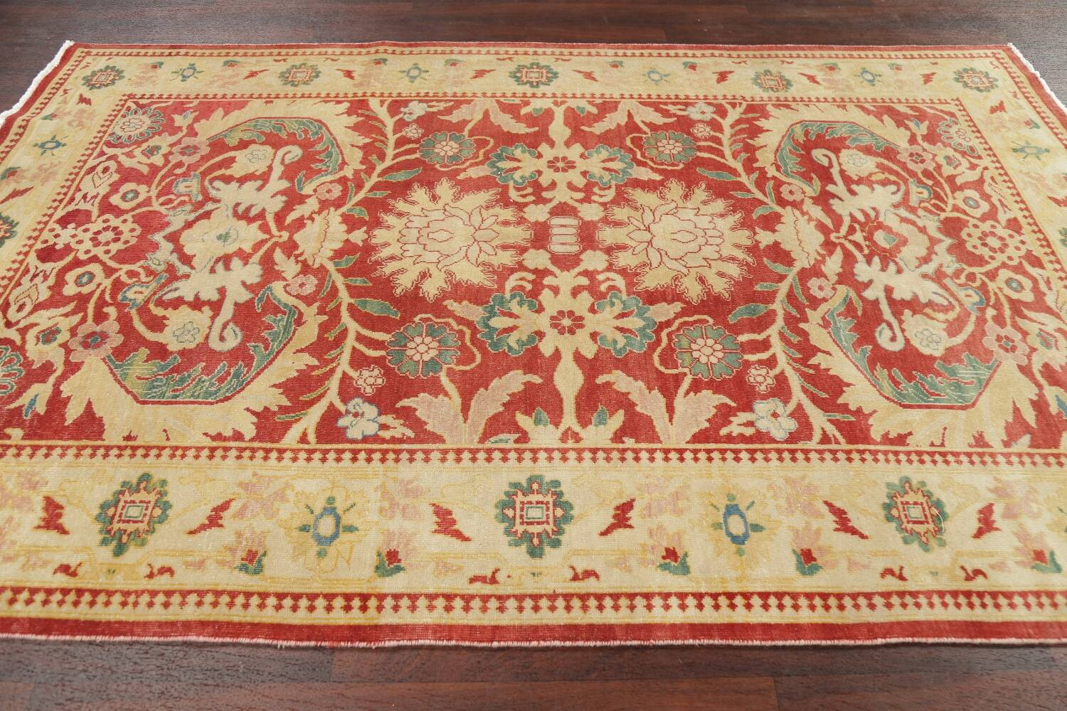 Floral Red Oushak Egyptian Area Rug 6x9 image 14