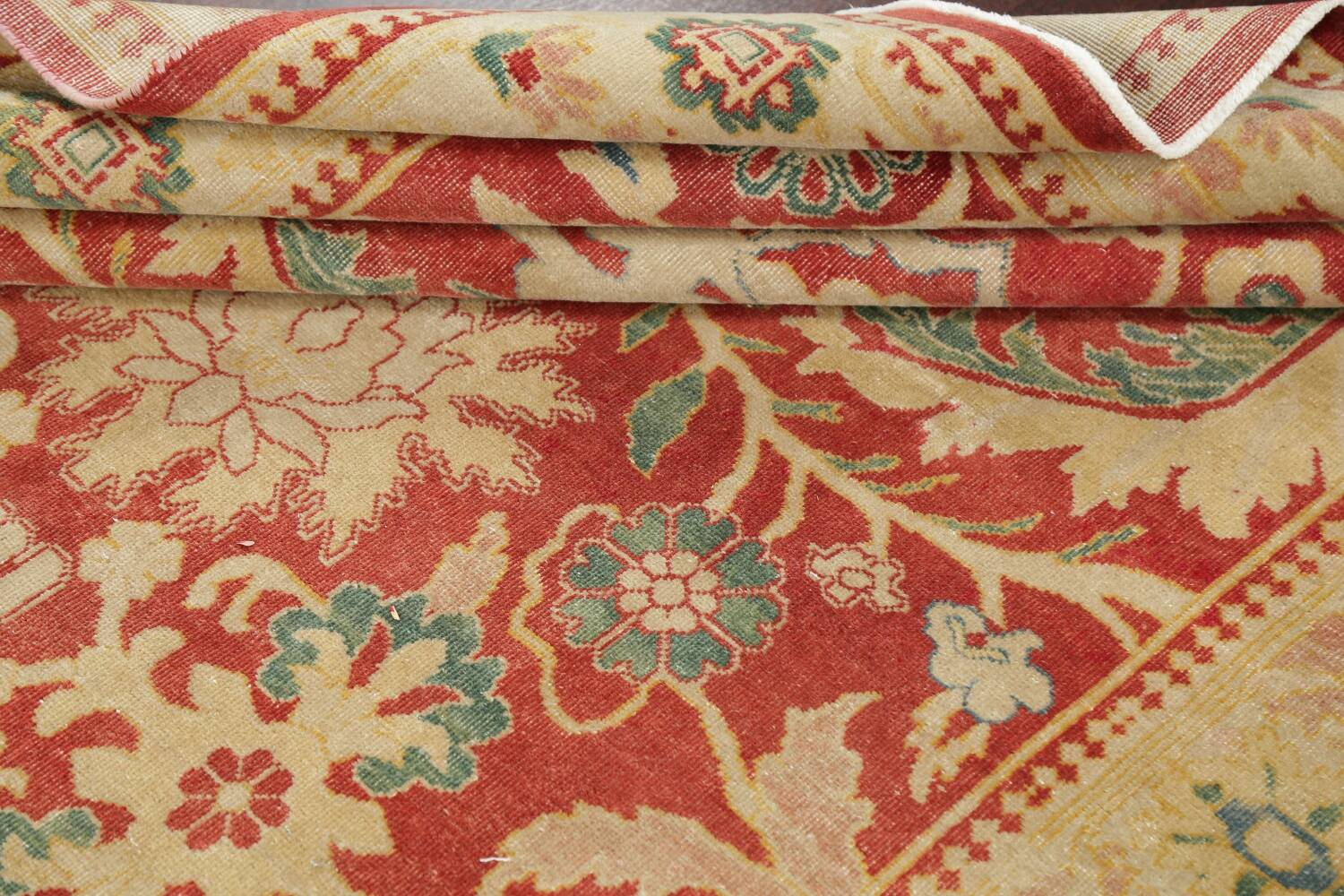 Floral Red Oushak Egyptian Area Rug 6x9 image 17