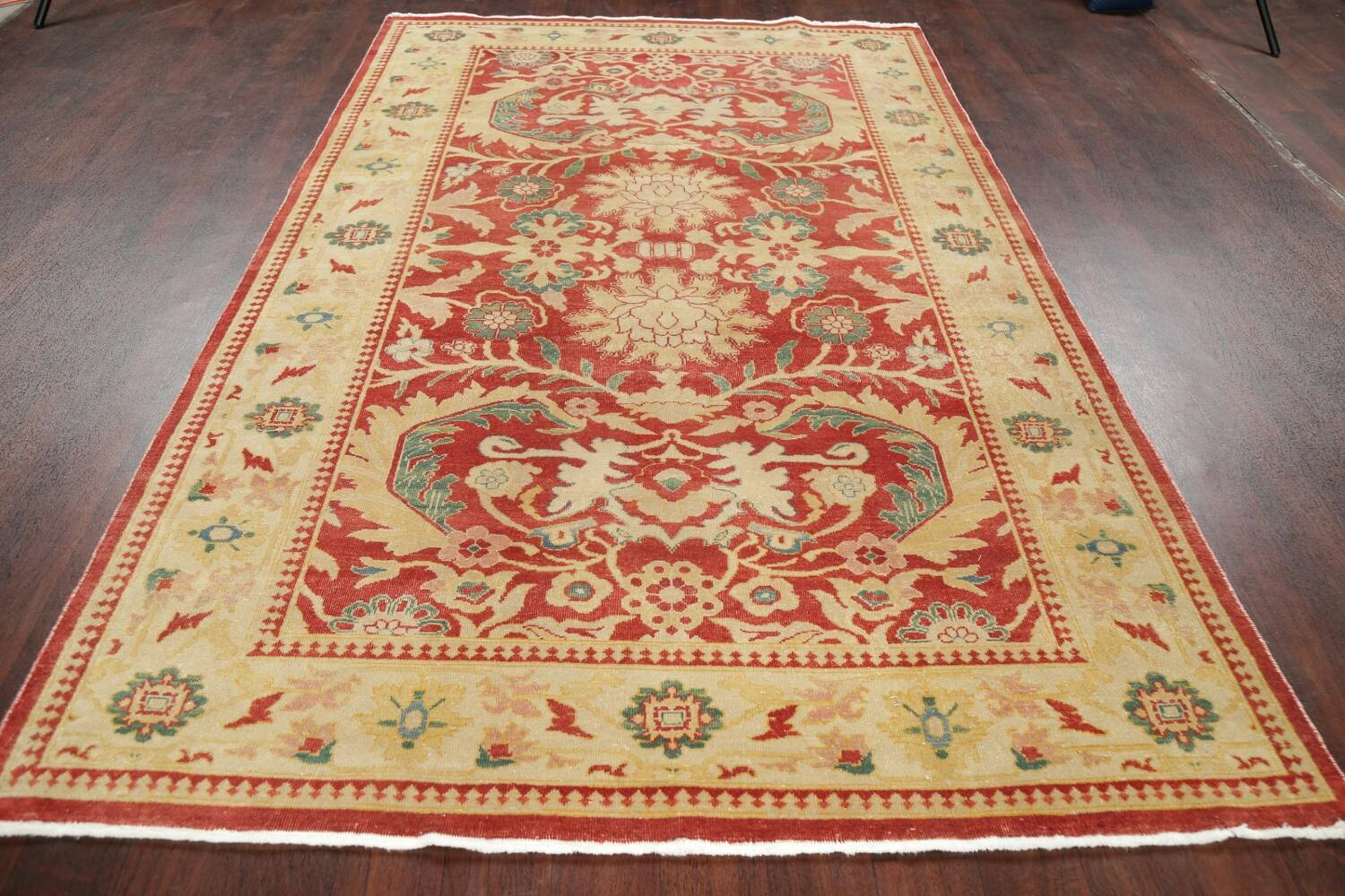 Floral Red Oushak Egyptian Area Rug 6x9 image 15