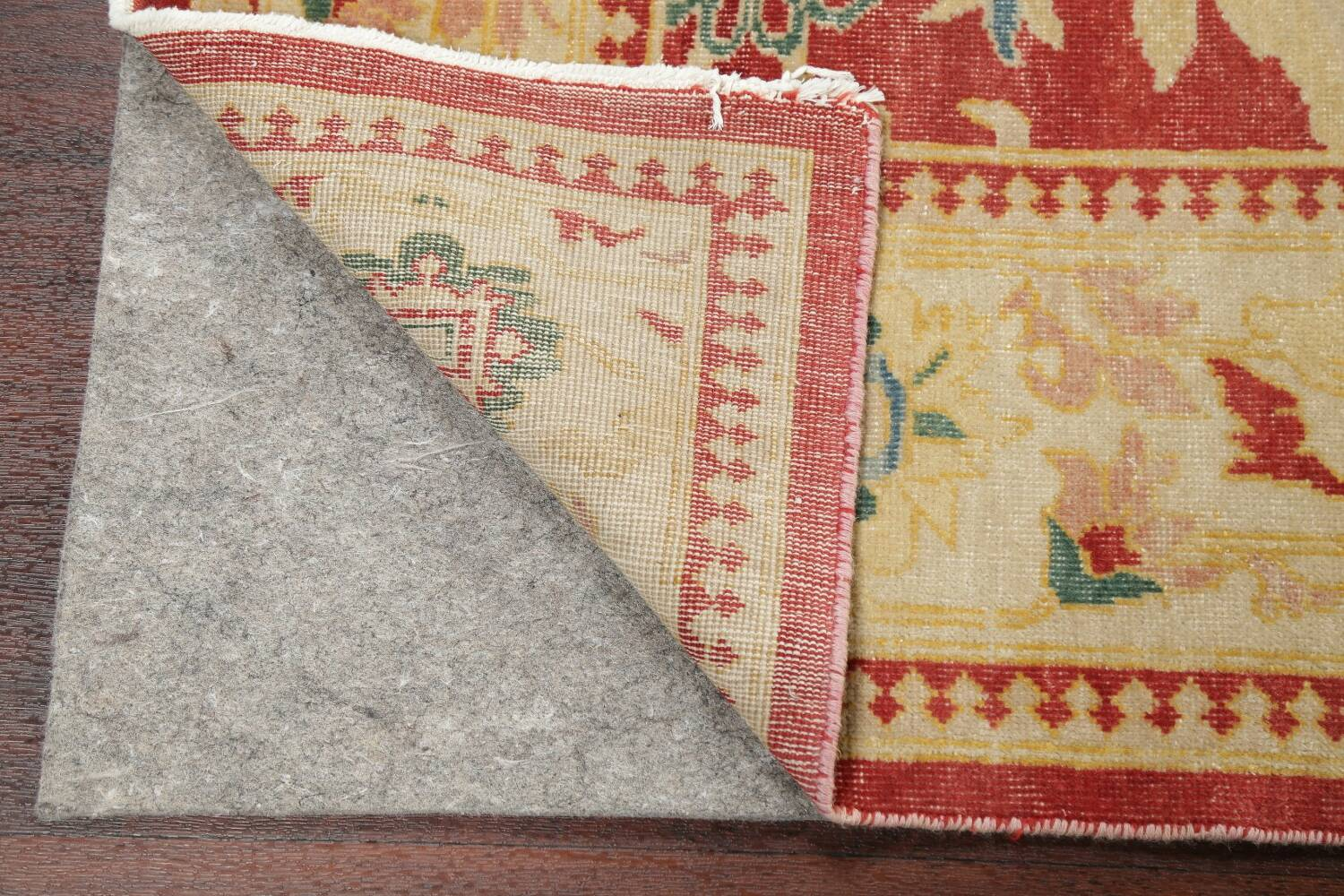 Floral Red Oushak Egyptian Area Rug 6x9 image 7
