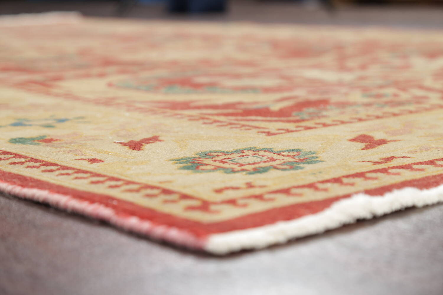 Floral Red Oushak Egyptian Area Rug 6x9 image 16