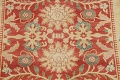 Floral Red Oushak Egyptian Area Rug 6x9 image 4
