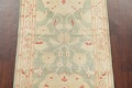 Muted Green Floral Oushak Egyptian Runner Rug 2x12 image 4