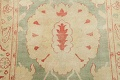 Muted Green Floral Oushak Egyptian Runner Rug 2x12 image 9