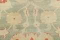 Muted Green Floral Oushak Egyptian Runner Rug 2x12 image 10